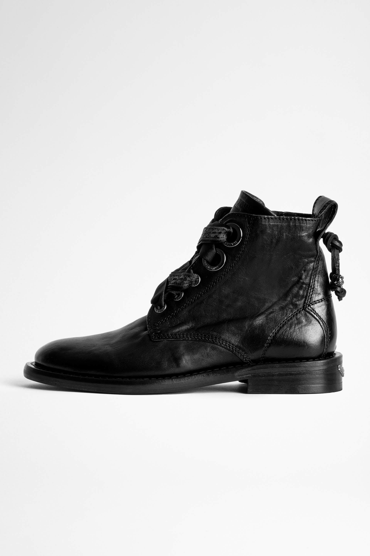 쟈딕앤볼테르 Zadig & Voltaire Laureen Roma Boots,BLACK