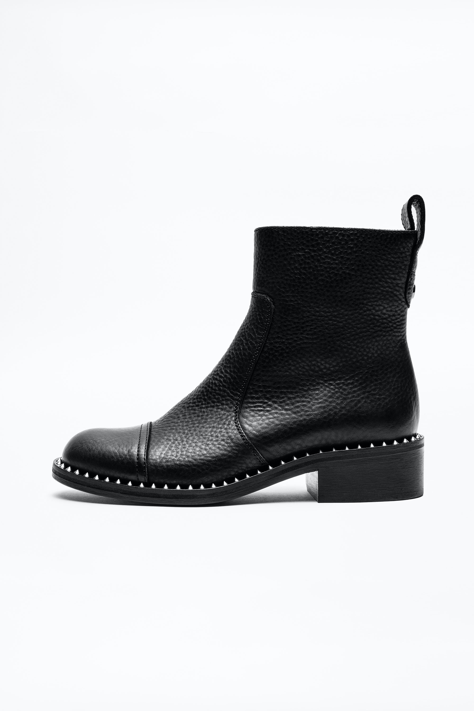 쟈딕앤볼테르 Zadig & Voltaire Empress Clous Boots,BLACK
