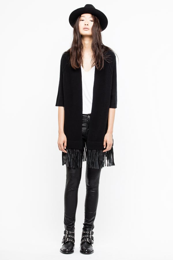 Paloma Leather Cardigan