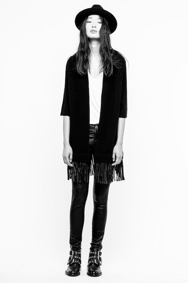 Paloma Leather Cardigan