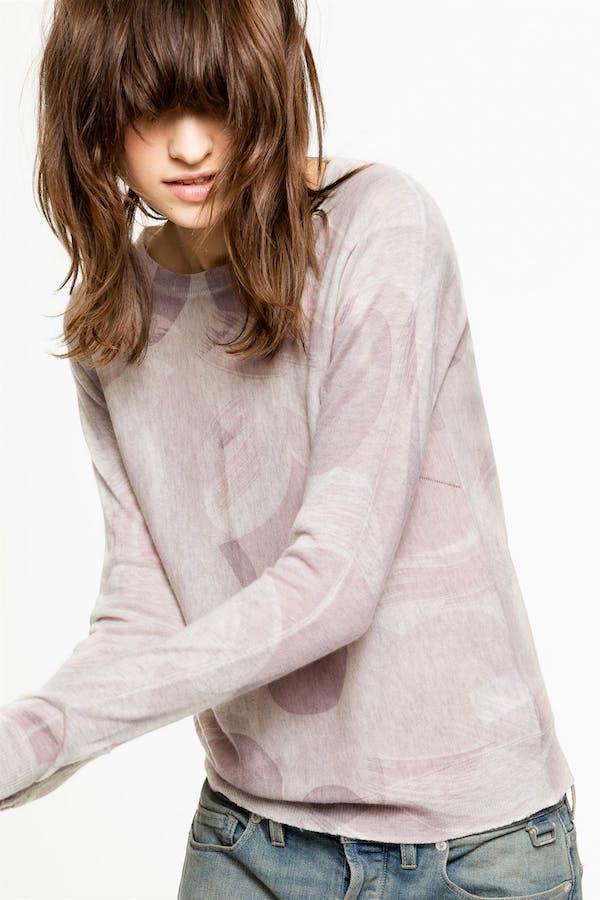 Crisp Camou Cachemire Sweater