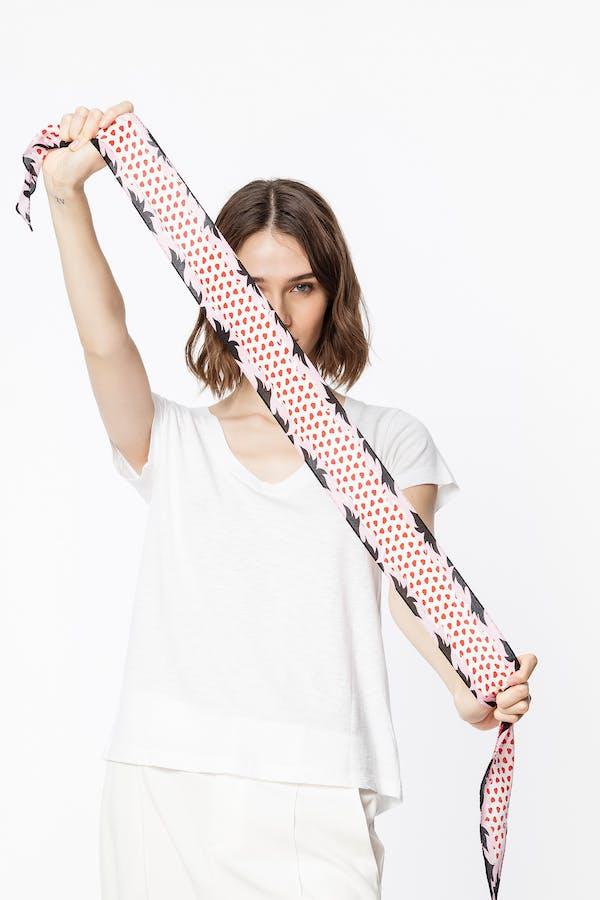 Xs Silky Valentine scarf