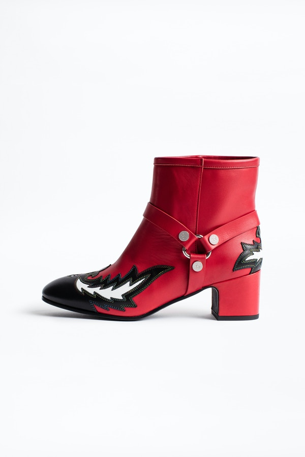 Trouble Flame ankle boots