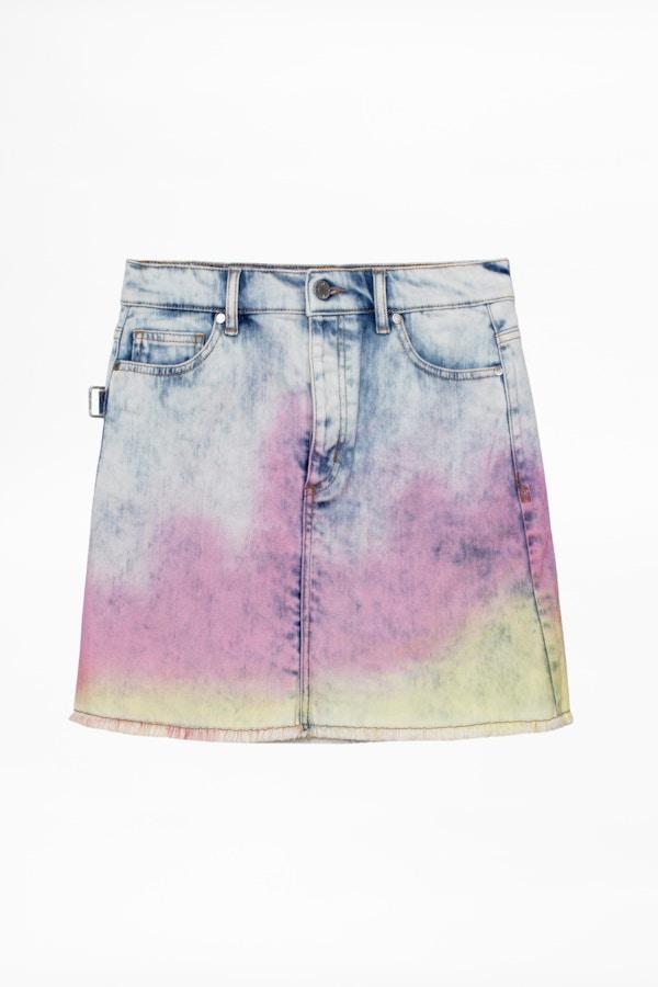 Juicy Denim Tie and Dye Skirt