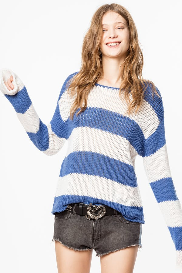Kansas Stripe Cashmere  sweater