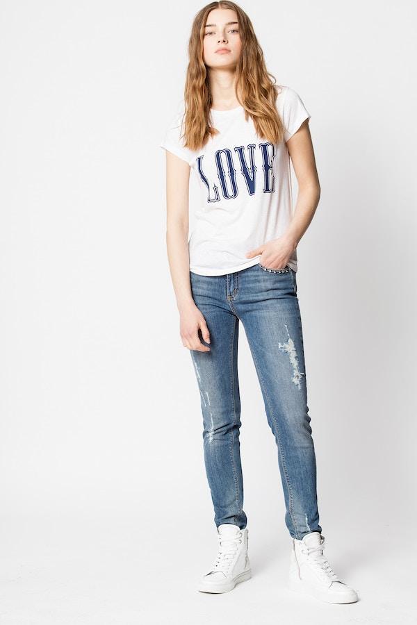 Skinny Love Western Print T-shirt