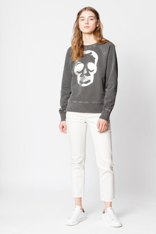 Upper Skull Foil Sweatshirt