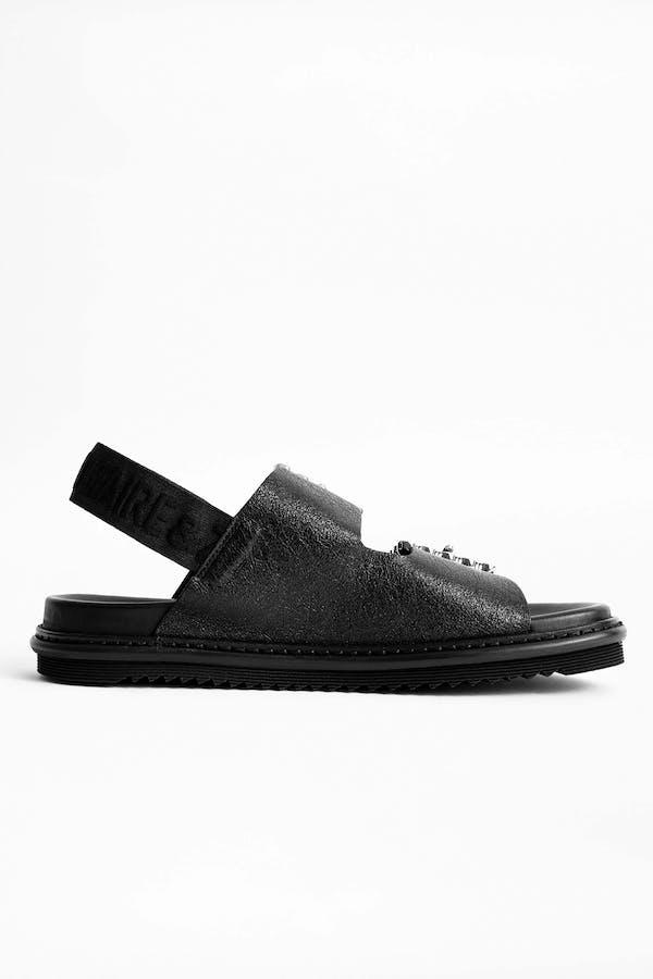 Alpha Grunge Metallic Sandals