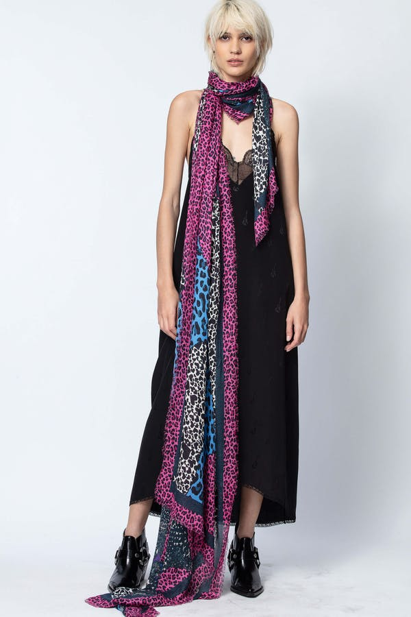 Maxy Patchwork Coeurs Scarf