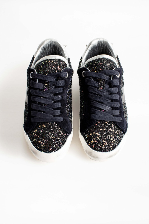Zadig Used Glitter Sneakers