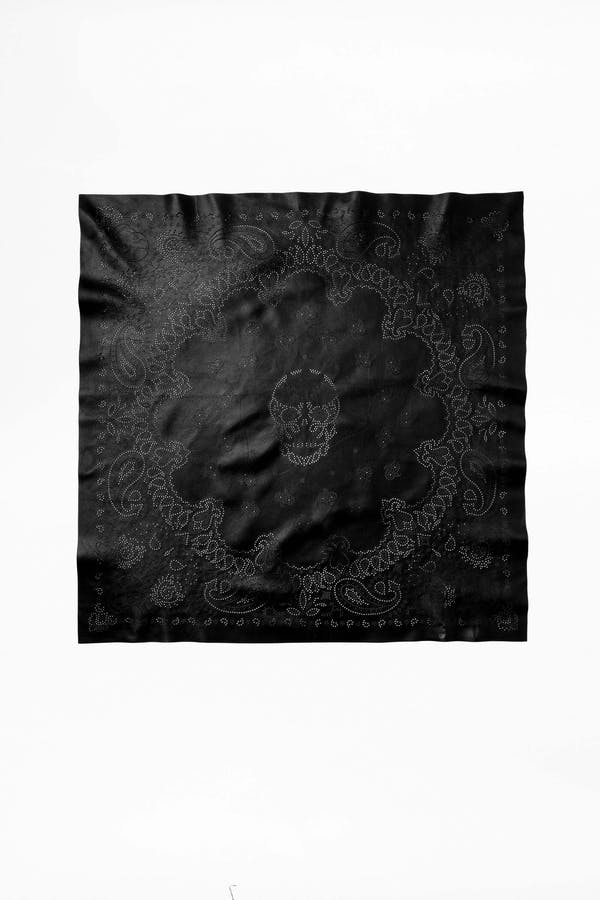 Bandy Paisley Leather Scarf
