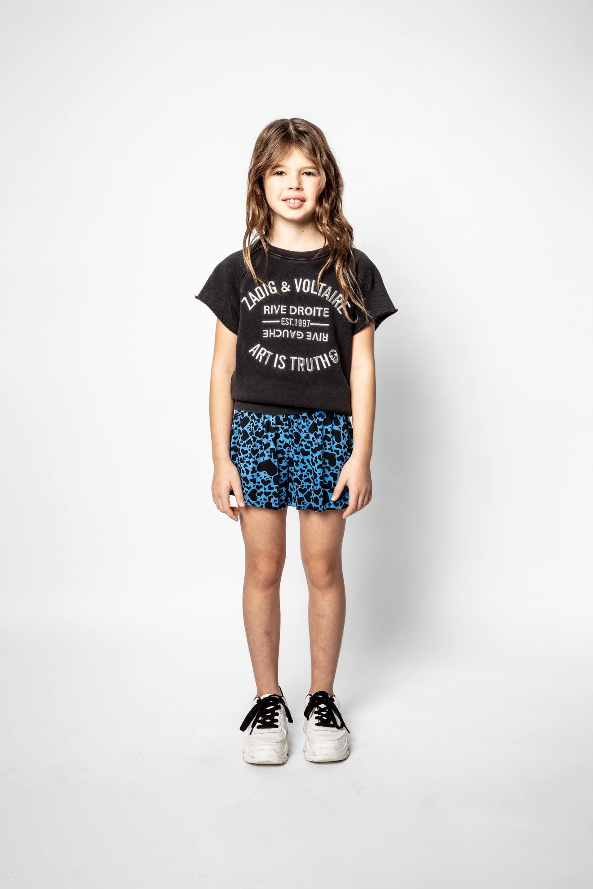 쟈딕 앤 볼테르 키즈 반바지 Zadig & Voltaire Child's Nicole shorts,MULTICOLOR