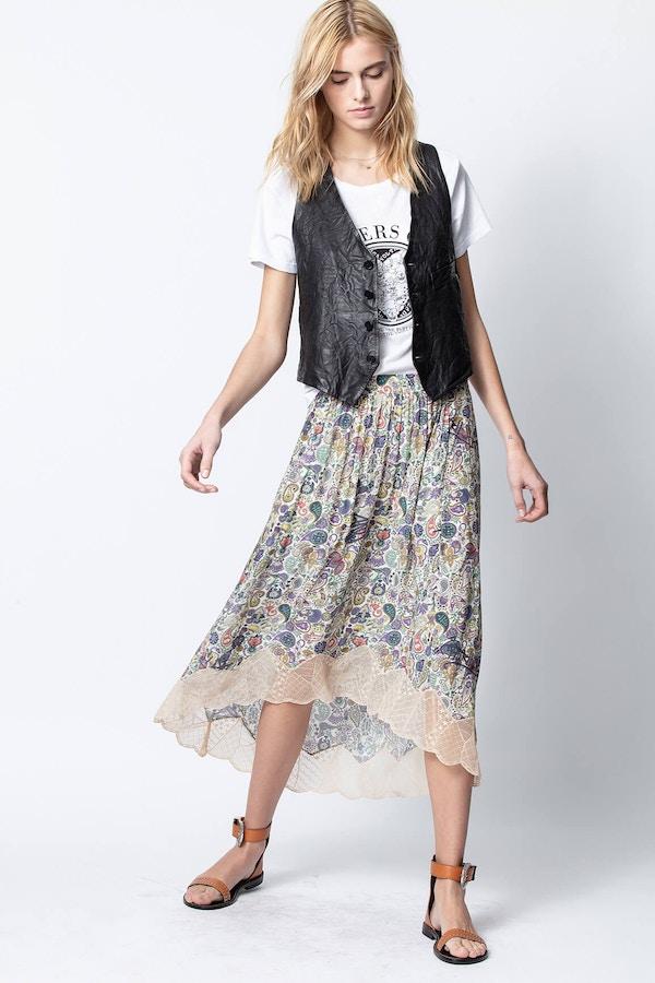 Joslin Print Mandala Skirt