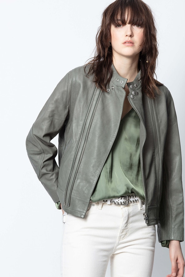 Lapo Leather Stone Washed Jacket
