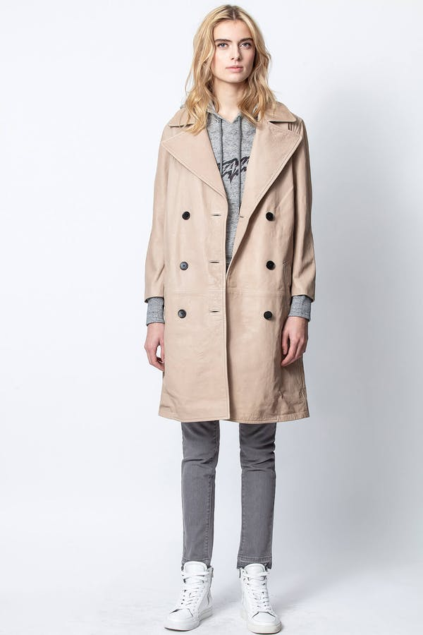 Miad Leather Coat