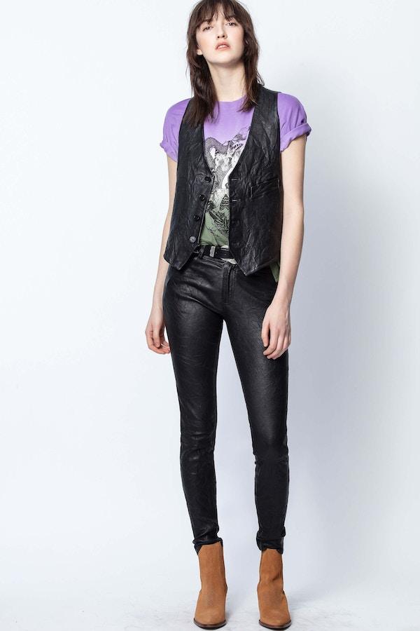Emilie Crinkle Leather Jacket