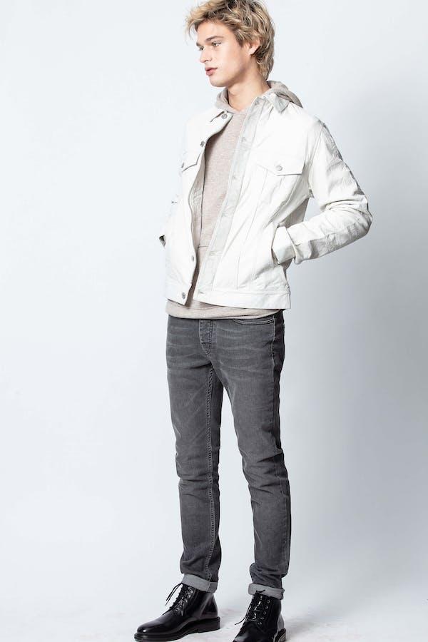 Base Crinkle Leather Jacket