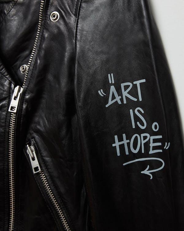 LOON LEATHER JACKET ART IS HOPE