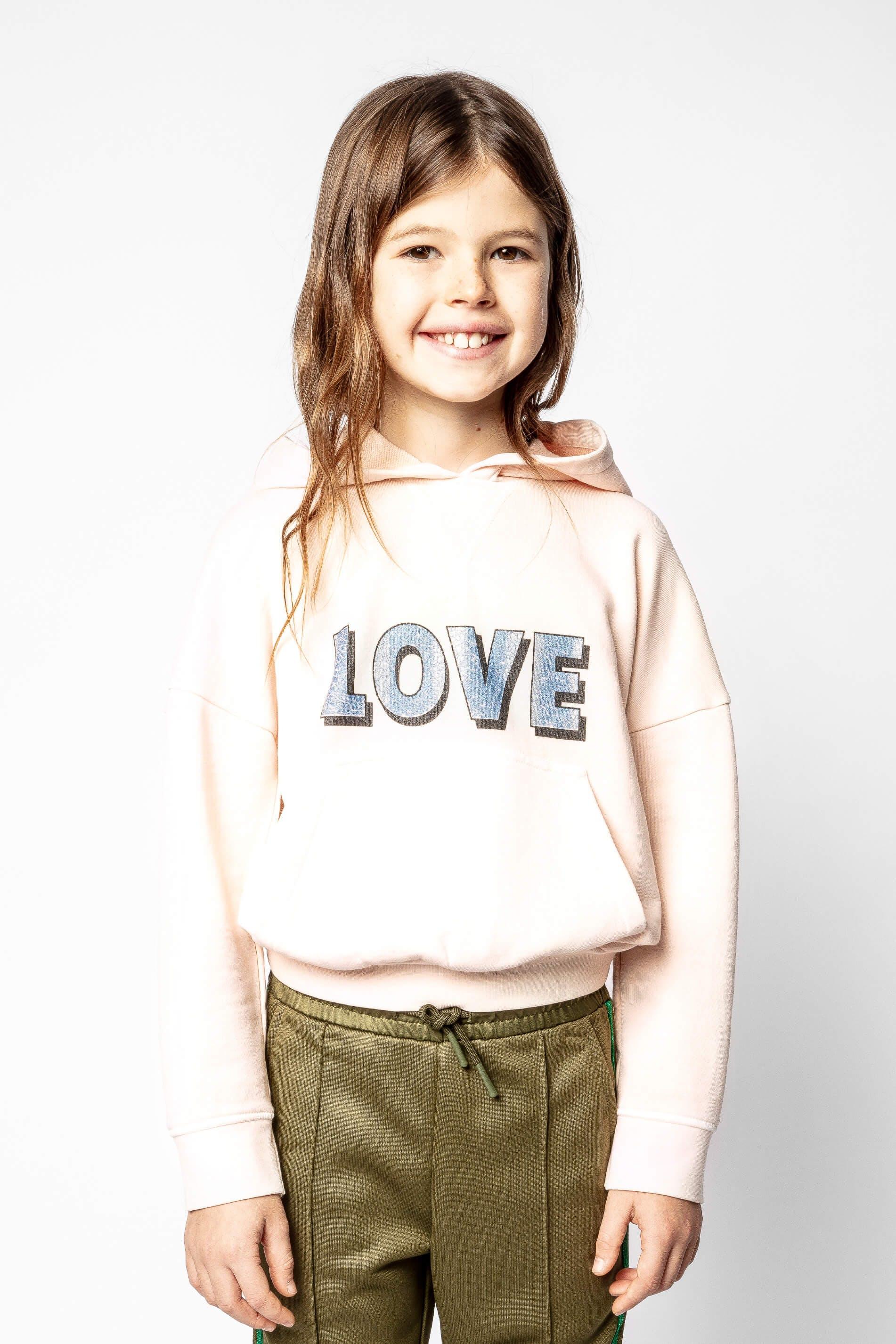 쟈딕 앤 볼테르 키즈 후드티 Zadig & Voltaire Child's Lisy sweatshirt,PINK