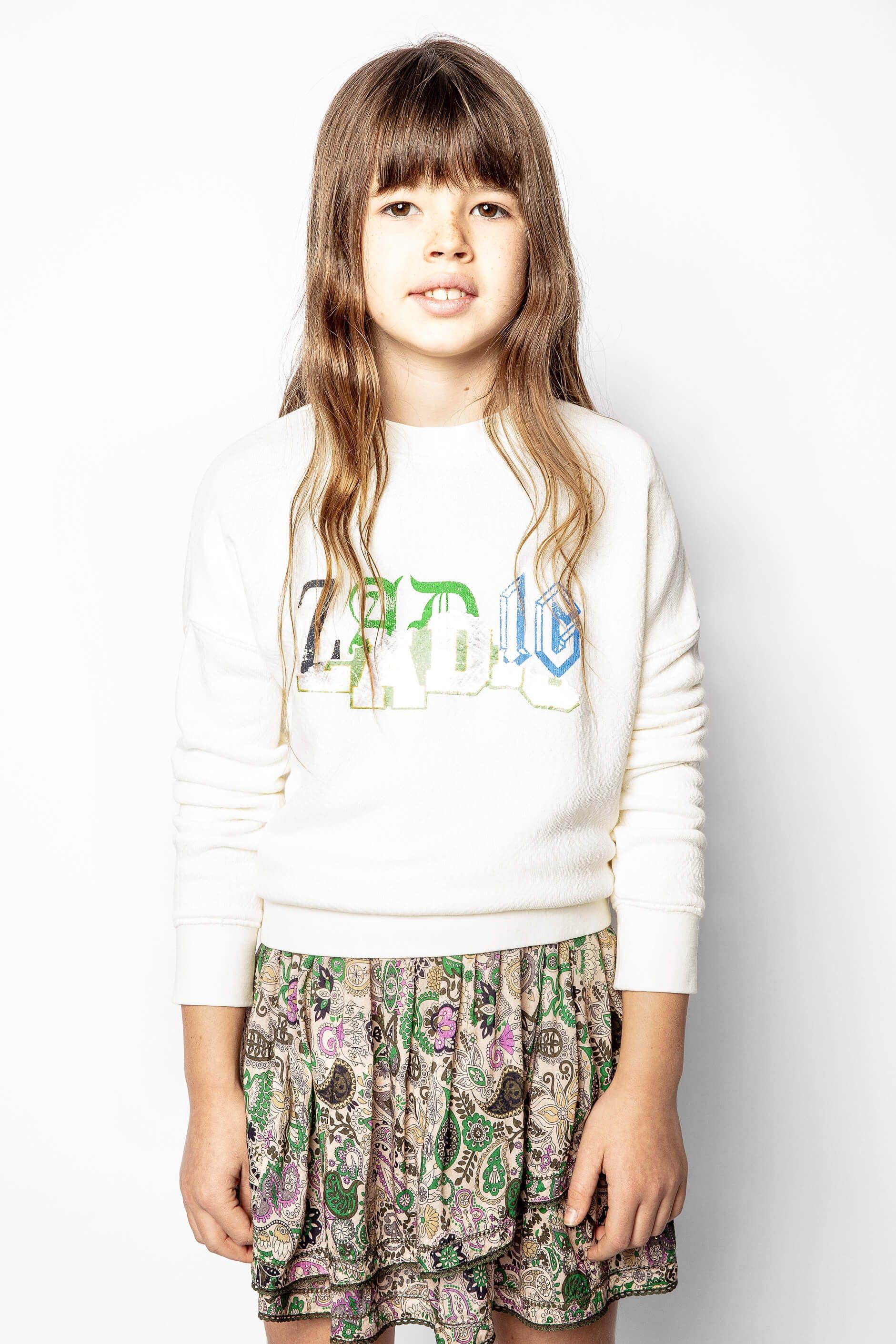 쟈딕 앤 볼테르 키즈 Zadig & Voltaire Childs Hailey Sweatshirt,NUDE