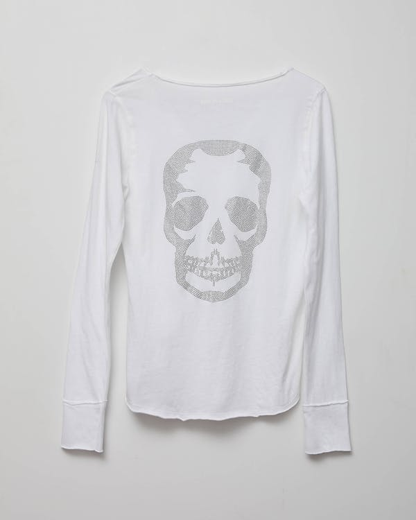 SKULL STRASS TEE SHIRT ART IS HOPE