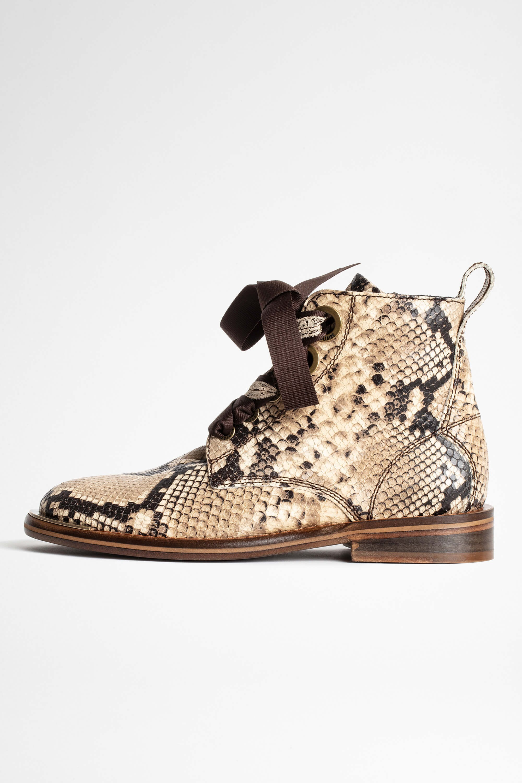 쟈딕앤볼테르 Zadig & Voltaire Wild Laureen Ankle Boots,DESERT