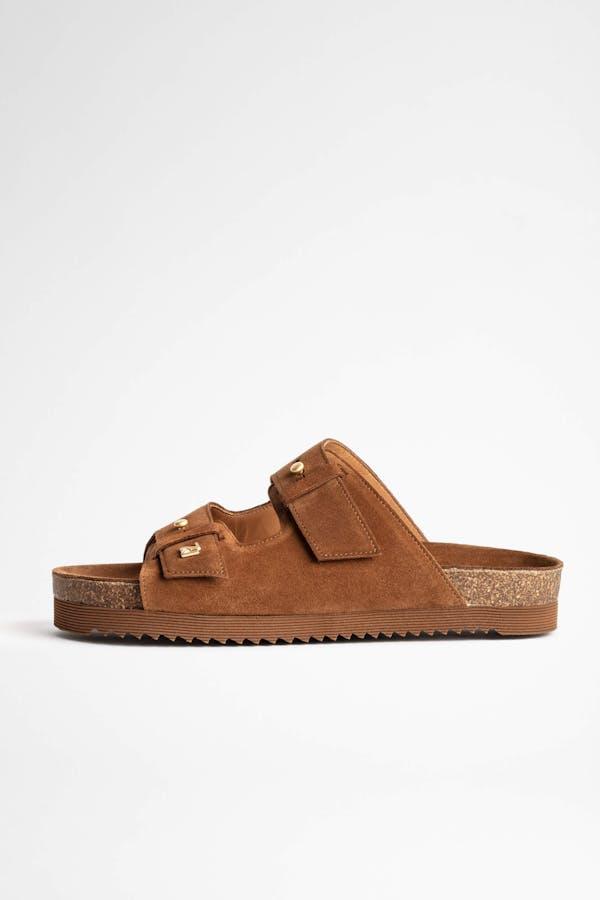 Alpha Grunge Suede Sandals