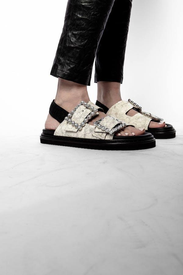 Alpha Grunge Crystal Sandal