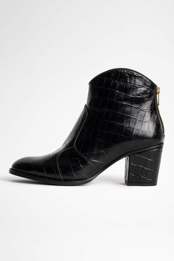Molly Croco Ankle Boots