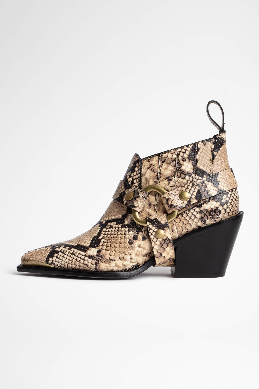 쟈딕앤볼테르 Zadig & Voltaire NDricks Wild Ankle Boots,DESERT