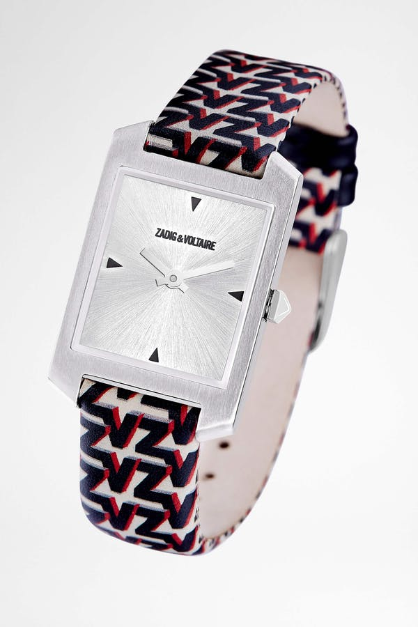 ZV Pattern Printed Strap Timeline Watch
