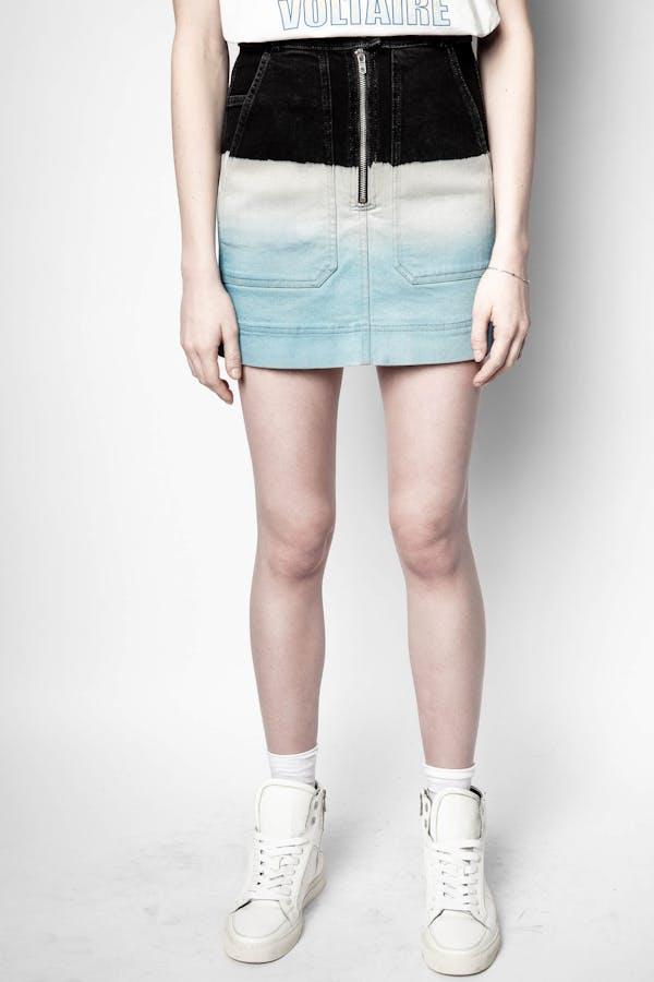 Jima Denim Deep Dye Skirt
