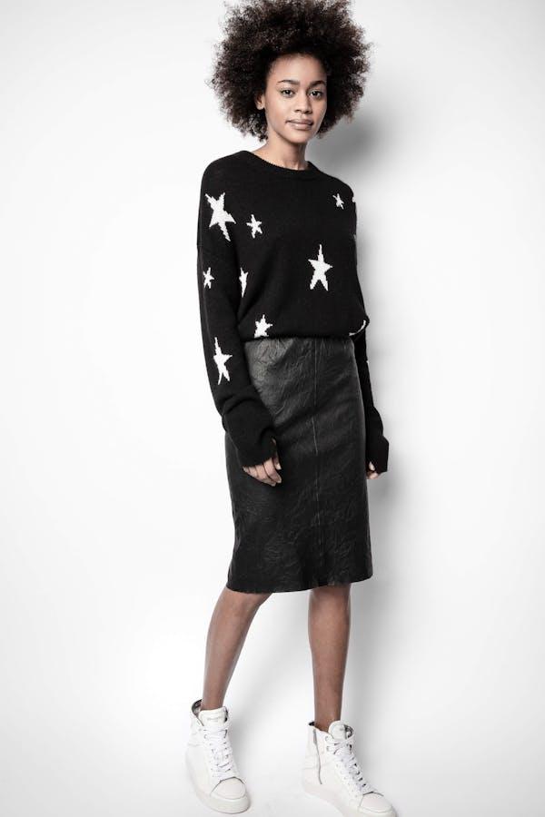 Jaden Cuir Froisse Skirt
