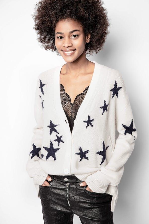 Mirka Stars Cashmere Cardigan