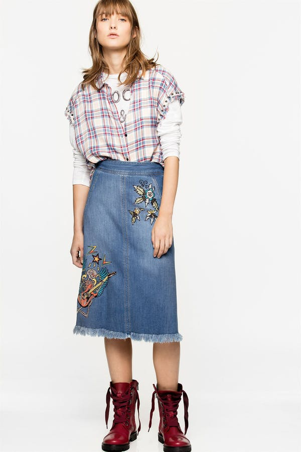 Jamille Embroidered Deluxe Skirt