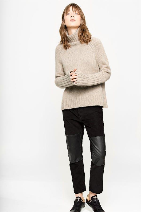 Zoe Tweed Deluxe Cashmere sweater