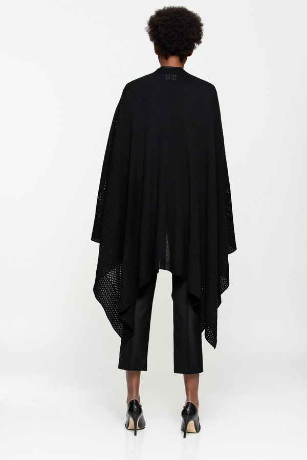 India fishnet cashmere cape
