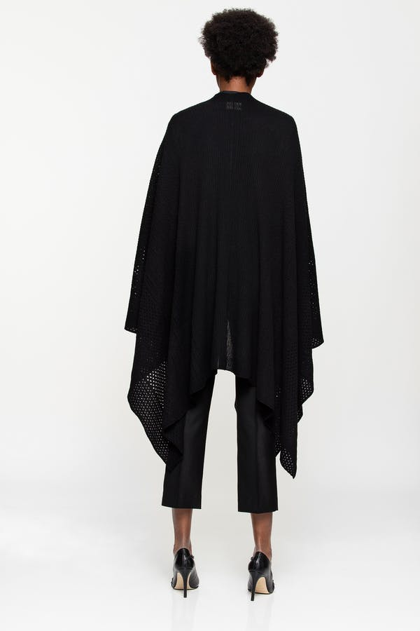 India fishnet cashmere cape