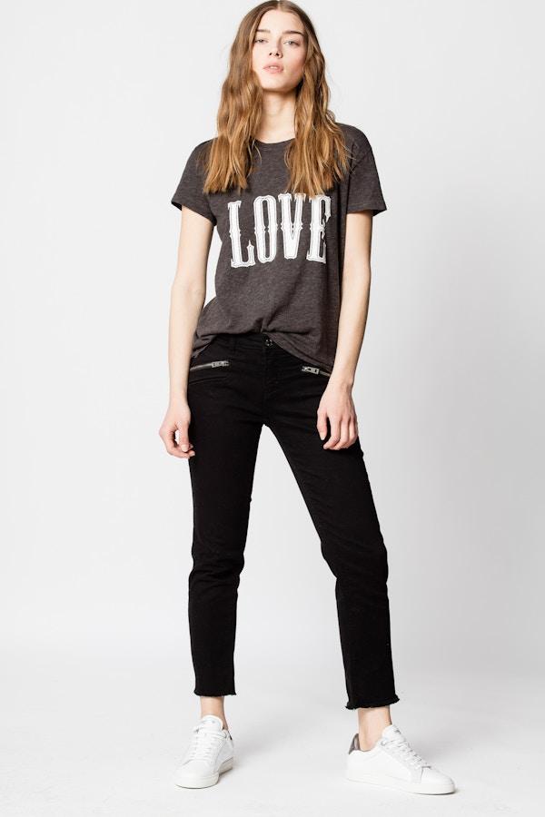 Walk Chine Overdyed Love T-shirt
