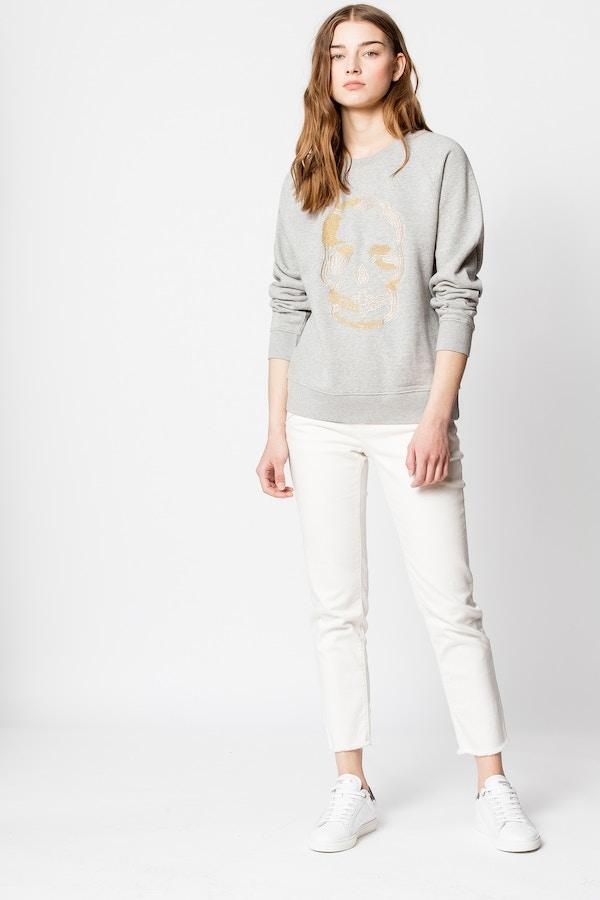 Upper Skull Glitter Sweatshirt