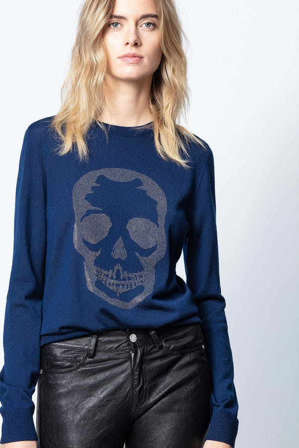 MIss M Skull Strass Sweater