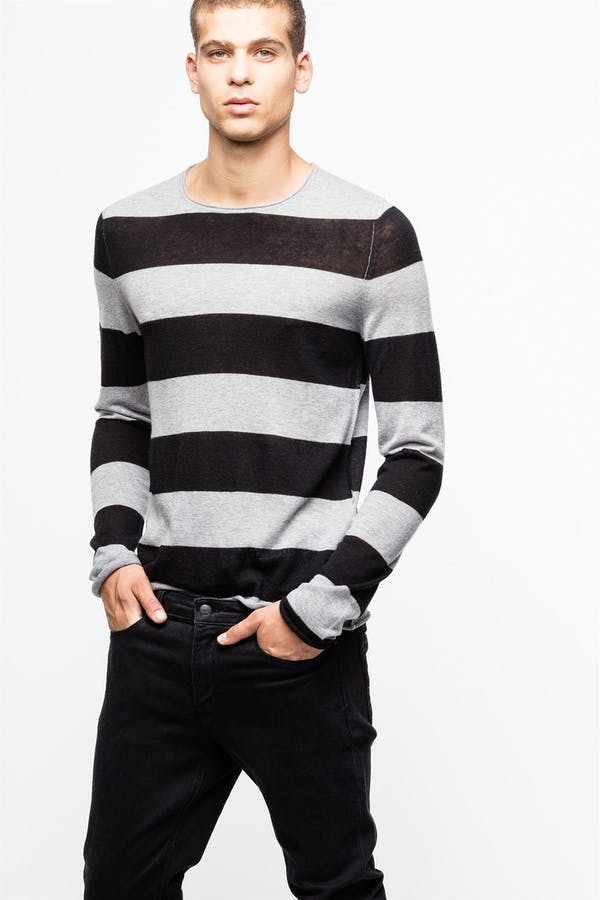 Teiss Stripe Cachemire Sweater