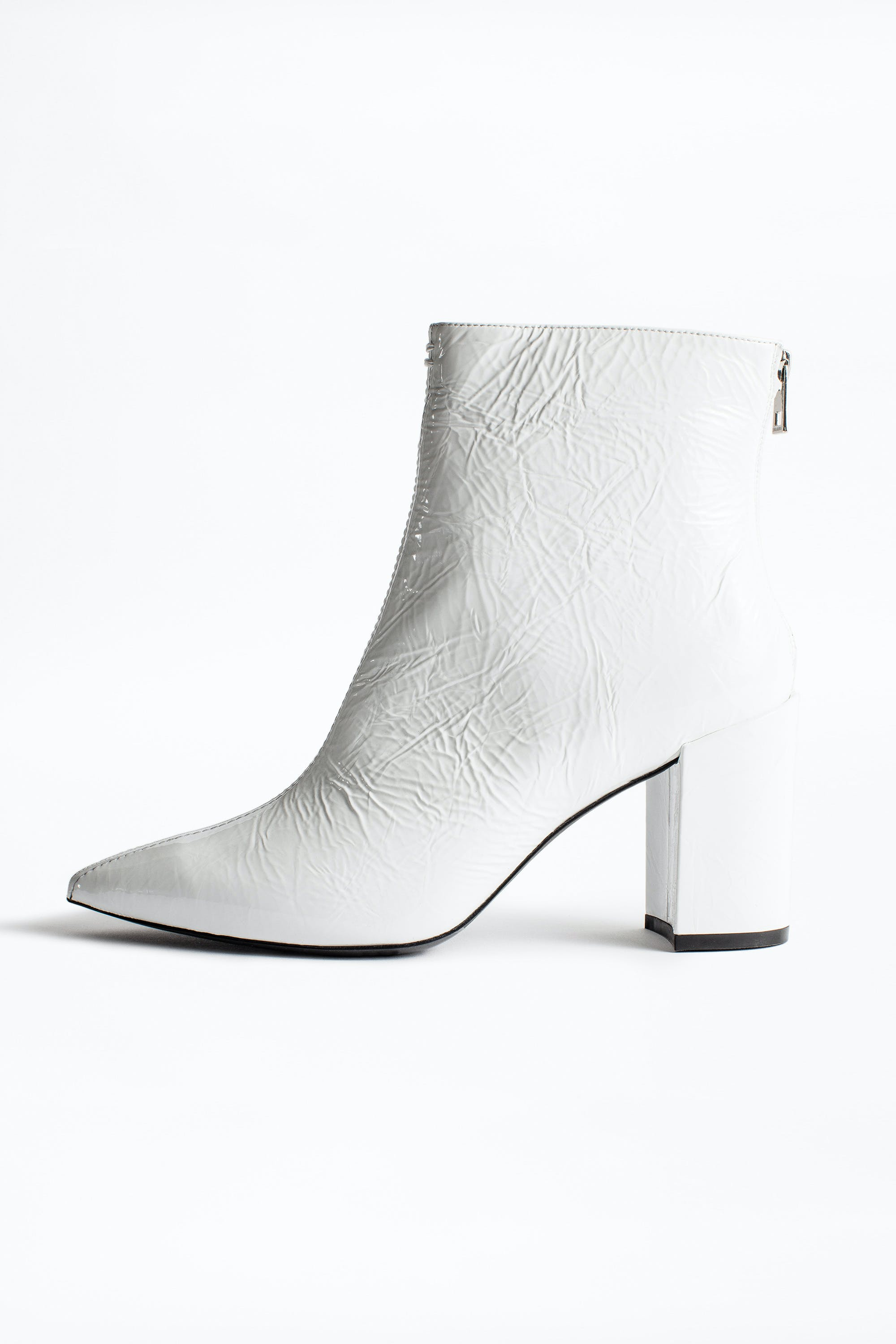 Glimmer Vernis Ankle Boots - boots