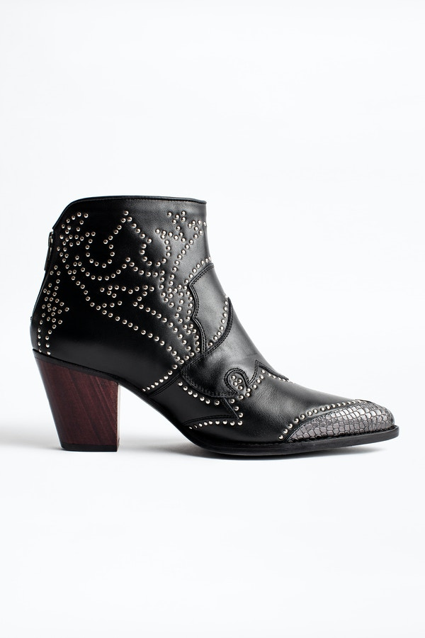 Cara Studs Ankle Boots