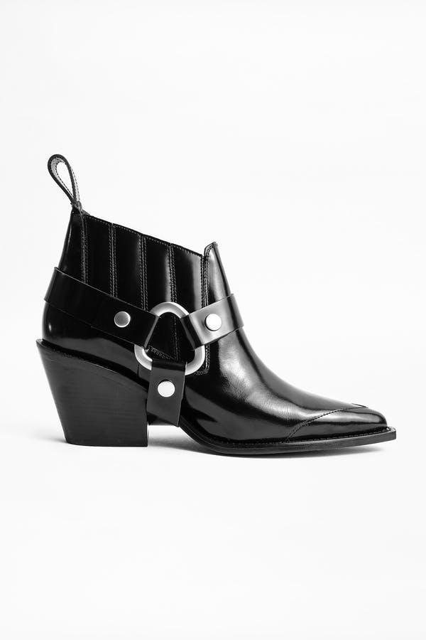 N'Dricks Glossy Ankle Boots
