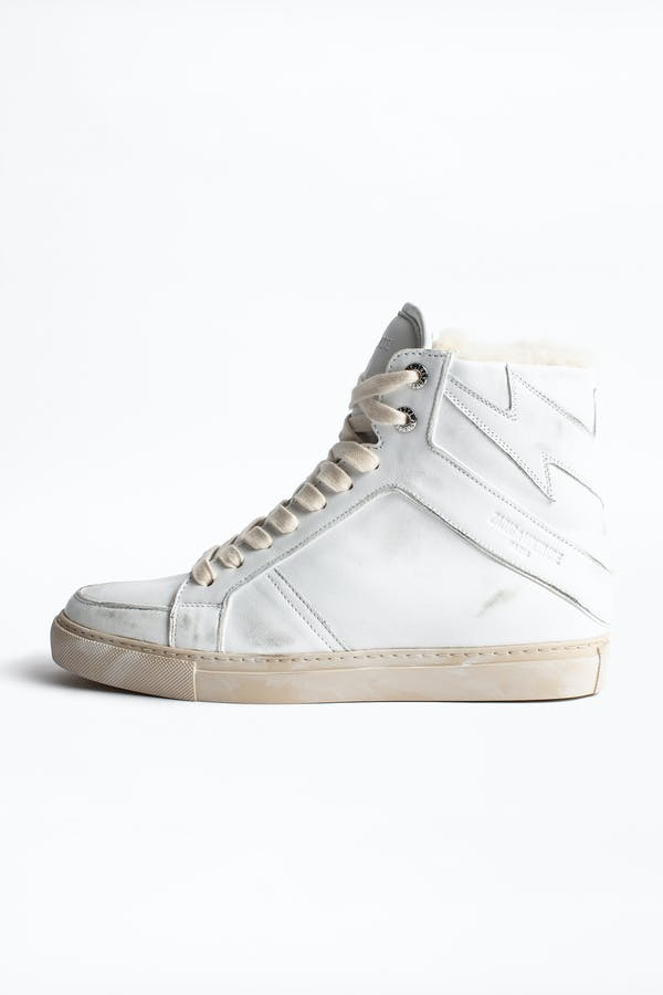 ZV1747 High Used Shearling Sneakers