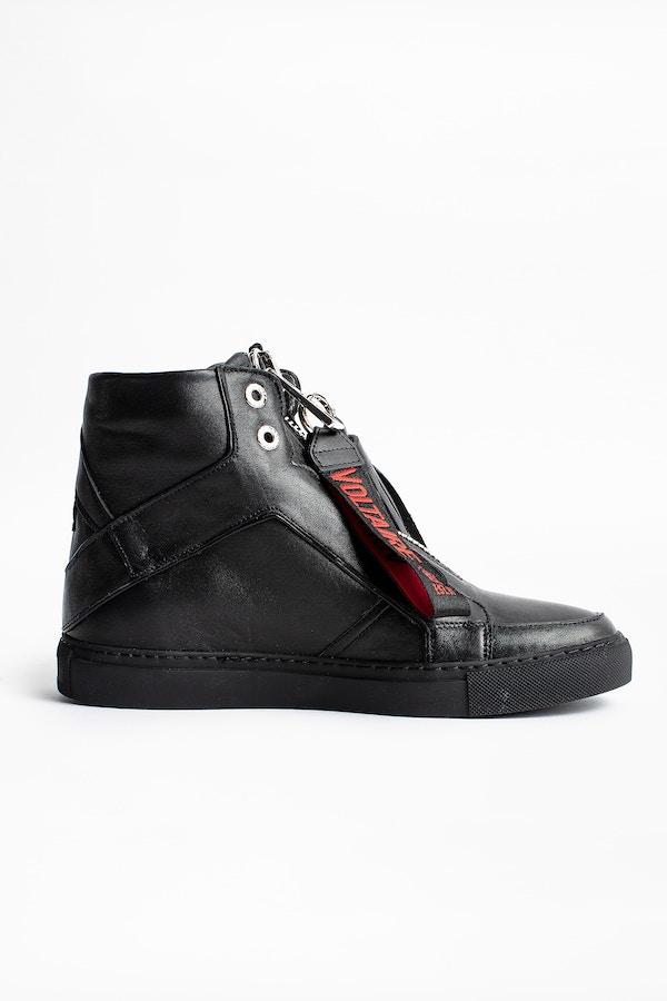 ZV1747 High Flash Zip Sneakers