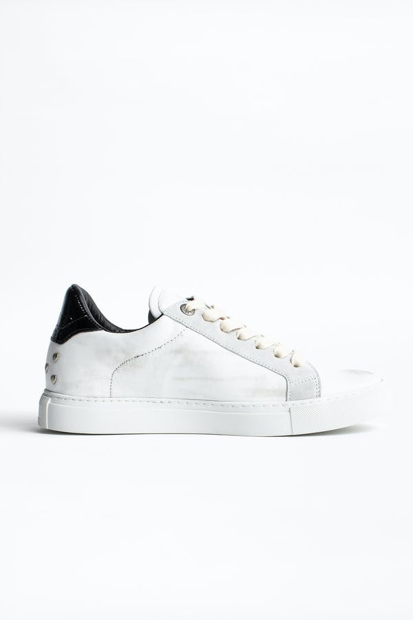 ZV1747 White Heart Sneakers