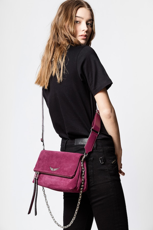 Rocky Suede Patent Bag