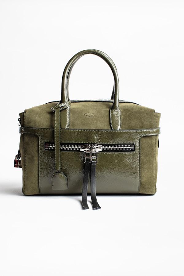 Montaigne Zip Suede Bag
